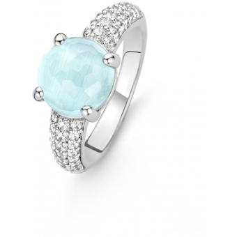 Bague Liberation 12086AG - Bague Sertie Turquoise Ronde Femme