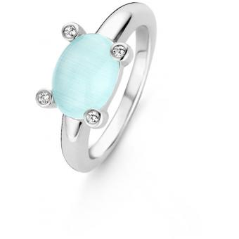Bague Liberation 12092AG - Bague Ovale Turquoise Sertie Femme