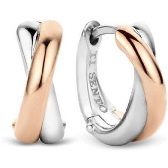Boucles d'oreilles Or rose Argent - Ti Sento - Ti Sento