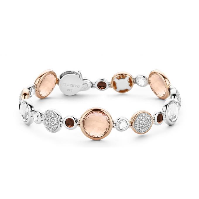 Bracelet Ti Sento 2902TP - Bracelet Argent Pierre Rose et Marron sur ... 645c11d39a9