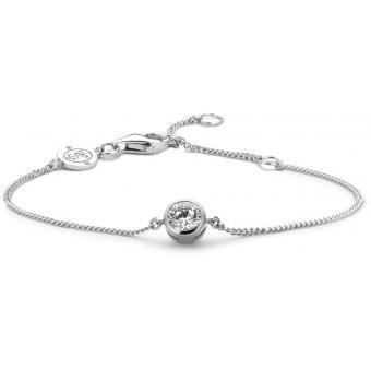 Bracelet Argent et Plaqué Or Ti Sento - Bracelet Argent Blanc Zirconium Femme - Ti Sento