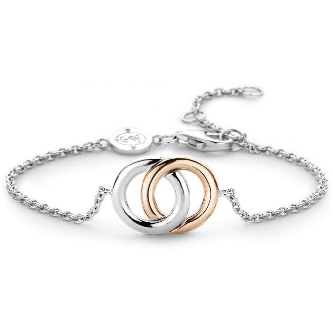 b56e51ba181 Bracelet Ti Sento 2790SR - Bracelet Chaîne Argent Or Rose Femme sur ...