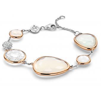 Bracelet Or Rose Argent - Ti Sento - Ti Sento