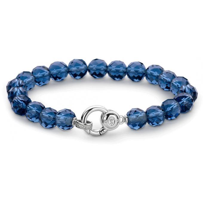 bracelet ti sento 2866db bracelet argent perles bleu femme sur bijourama r f rence des bijoux. Black Bedroom Furniture Sets. Home Design Ideas