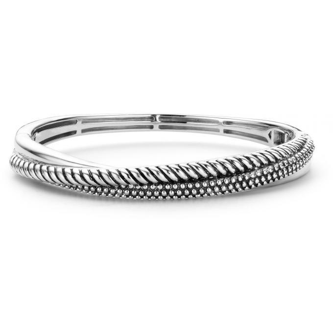 Ti Sento - Bracelet Ti Sento 2815SB - Bracelet Tressé Argent Femme pas cher