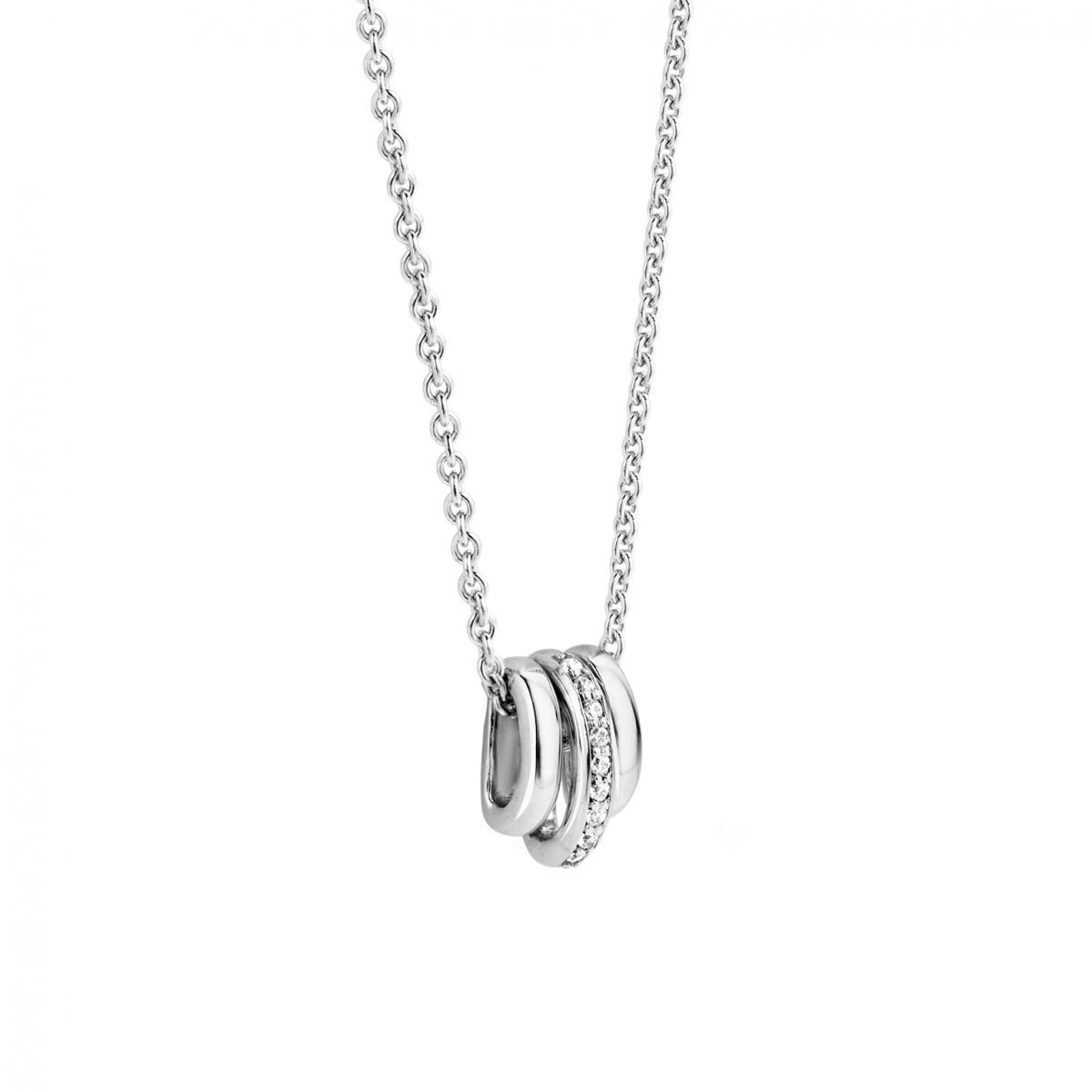 collier argent femme anneau