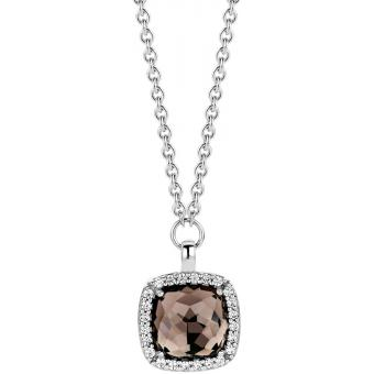 Collier et pendentif Noir Argent Zirconium - Ti Sento - Ti Sento