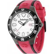 Montre Timberland 14323JSUB-04 - Montre Dateur Silicone Rouge Homme