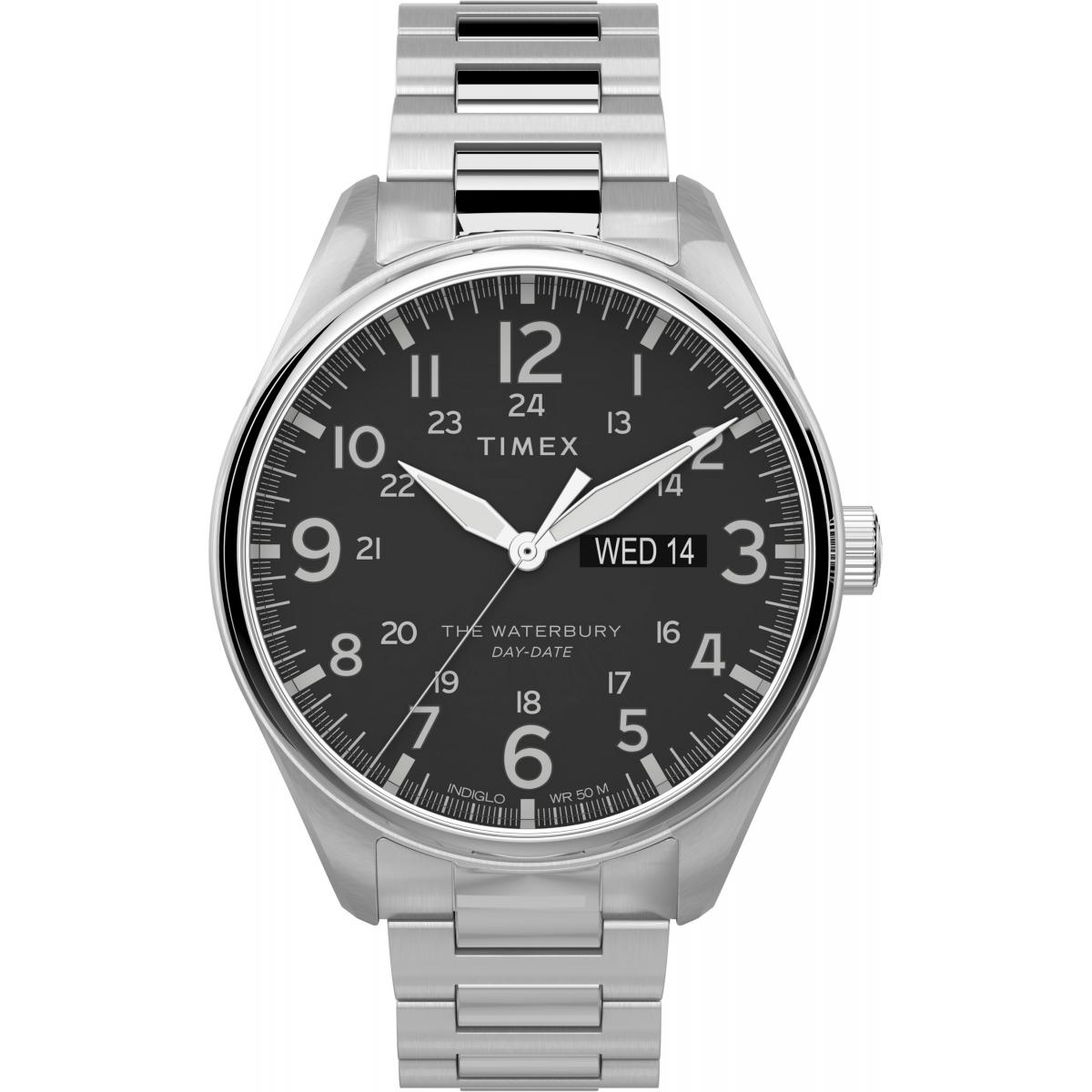montre Timex montres Waterbury Traditional Day Date TW2T71100 - montre  Homme