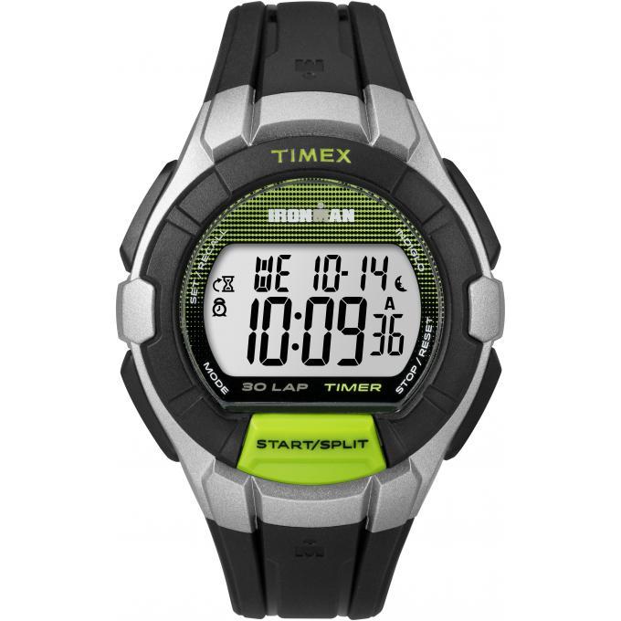 grande vente c8195 0ee15 Montre Timex TW5K95800D7 - IRONMAN Chronographe,Dateur Bracelet Silicone  Noir Boitier Résine Gris Homme Plus d'infos