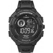 Montre Timex Ronde Noire Fonctionnelle T49983SU