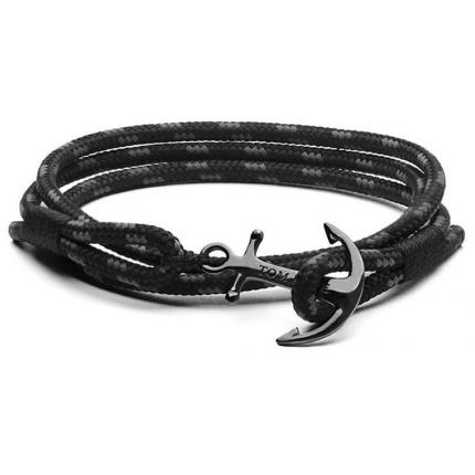 Bracelet Tom Hope TM013 - Bracelet Triple Black Mixte
