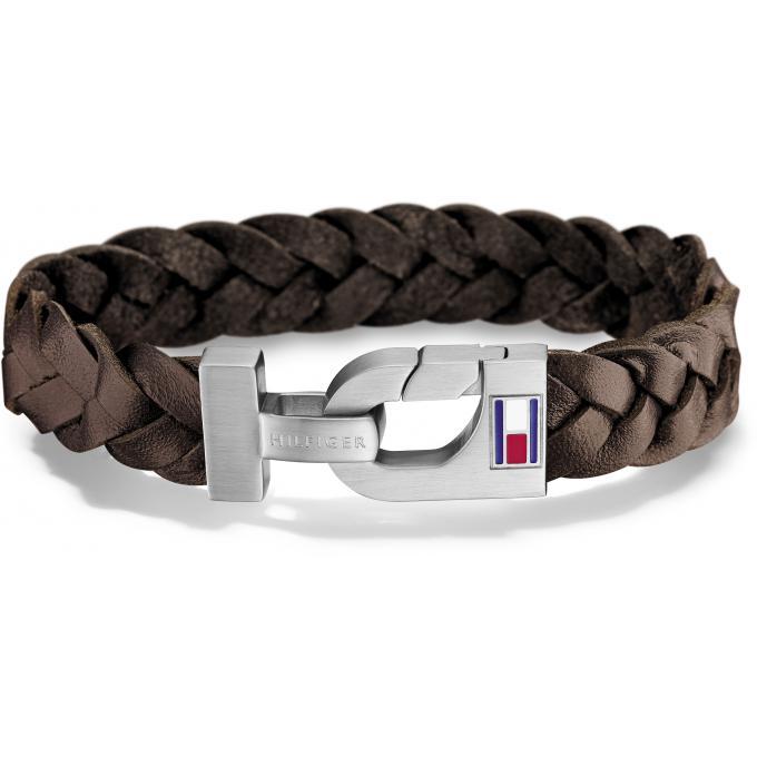 bracelet tommy hilfiger bijoux 2700874 bracelet cuir tress marron homme sur bijourama. Black Bedroom Furniture Sets. Home Design Ideas
