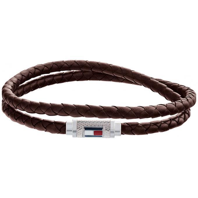 acheter populaire d5f98 7a5be Bracelet Tommy Hilfiger Bijoux 2790012 - Bracelet Cuir Marron HOMME Plus  d'infos