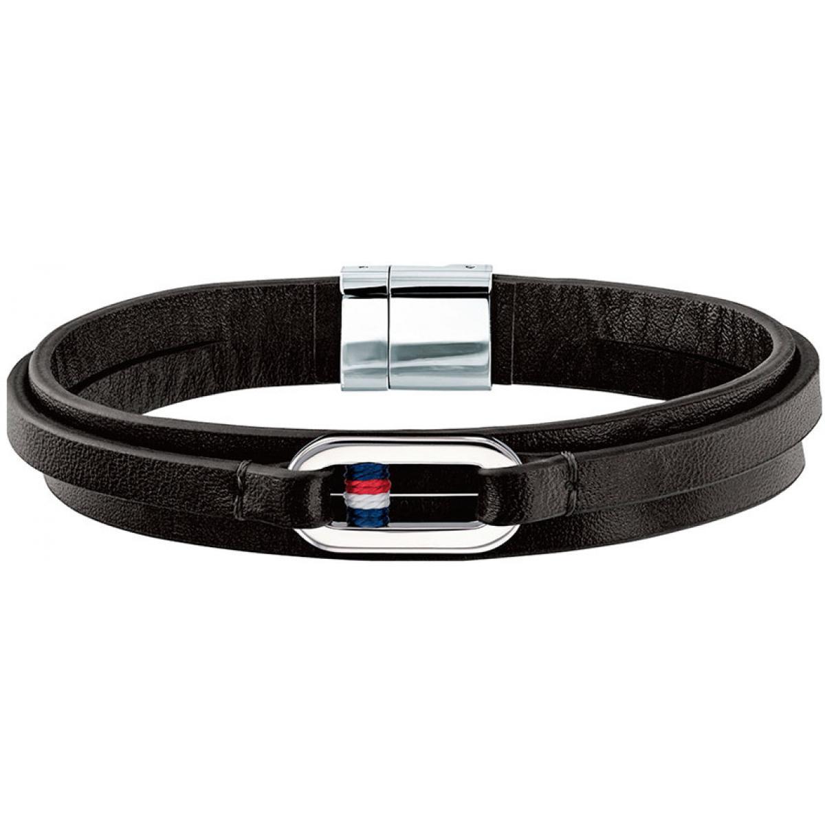 bracelet cuir noir homme