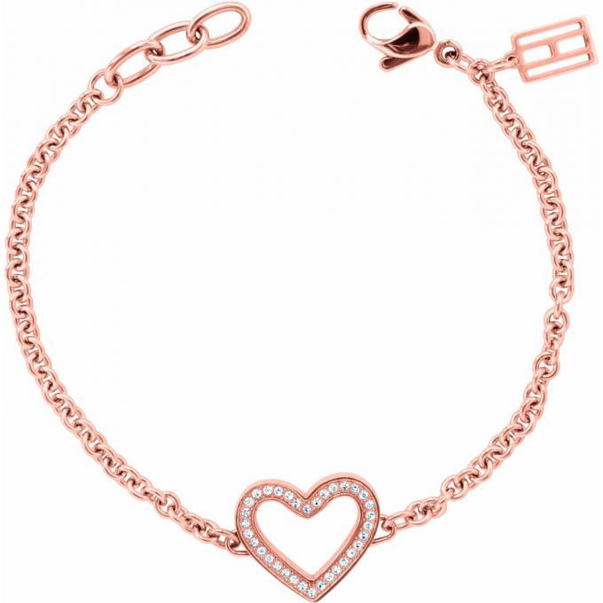bracelet tommy hilfiger 2700625 bracelet coeur or rose. Black Bedroom Furniture Sets. Home Design Ideas
