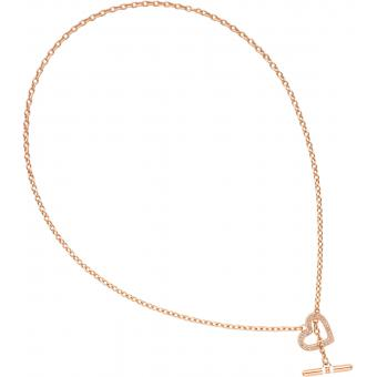 Collier Tommy Hilfiger 2700638 - Collier Or rose Cristaux Femme