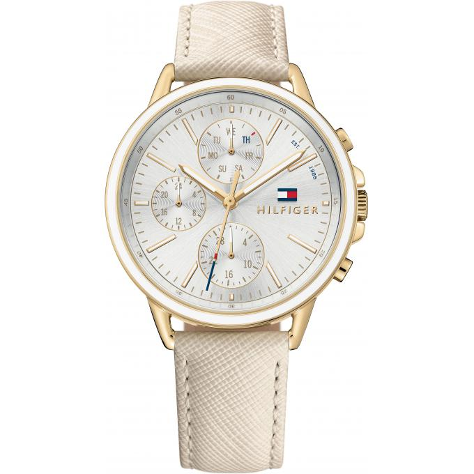 montre tommy hilfiger 1781790 montre chronographe cuir beige femme sur bijourama montre. Black Bedroom Furniture Sets. Home Design Ideas