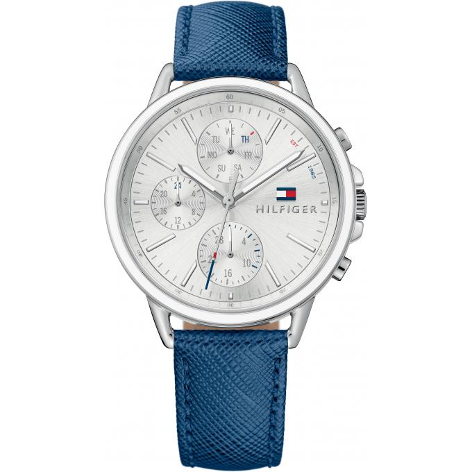 Montre Tommy Hilfiger 1781791 , Montre Chronographe Cuir Bleu Femme Plus  d\u0027infos