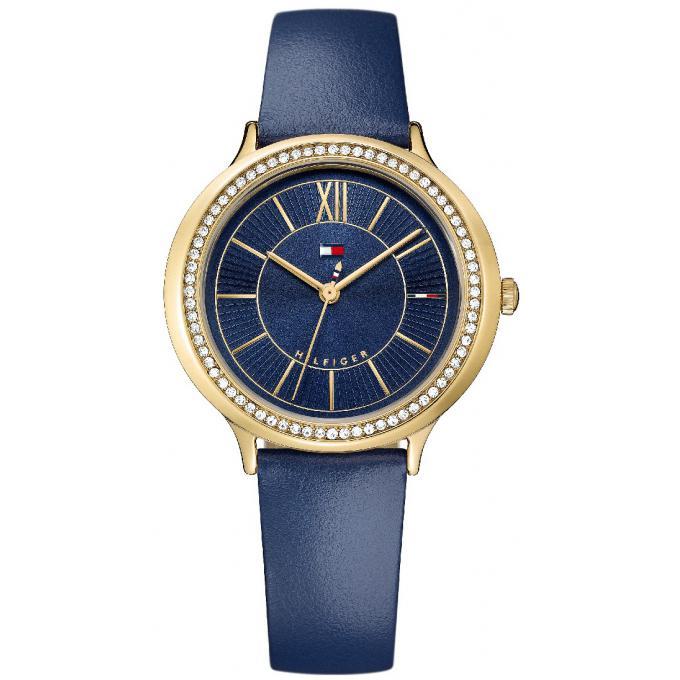 Promo   Montre Tommy Hilfiger 1781852 - Montre Cuir bleu Femme 6f9cc9e303f
