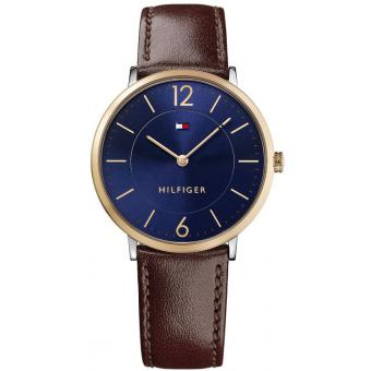 Montre Tommy Hilfiger ULTRA SLIM 1710354 - Montre Marron Cuir Homme