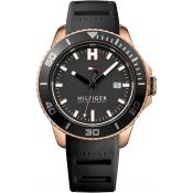 Montre Tommy Hilfiger WADE 1791266 - Montre Noire Silicone Homme