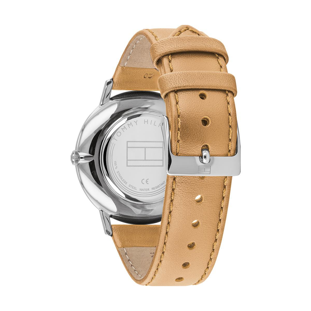 montre femme bracelet cuir marron clair