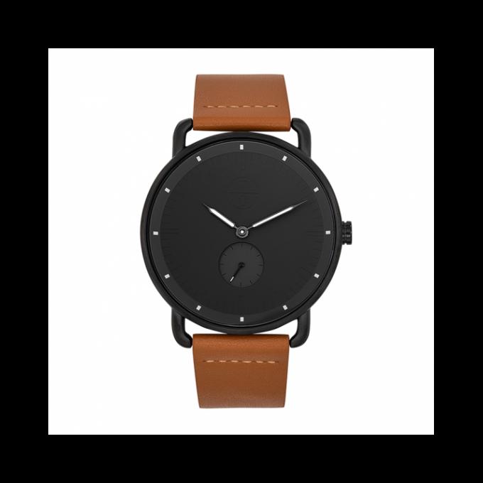 mieux aimé braderie vente en ligne Montre Trendy Classic CC1044-02 - Dash Boîtier Acier Noir Bracelet Cuir  Marron Cadran Noir Homme Plus d'infos