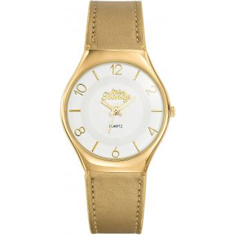 Montre Miss Trendy KL336 - Montre Ronde Cuir Or Enfant