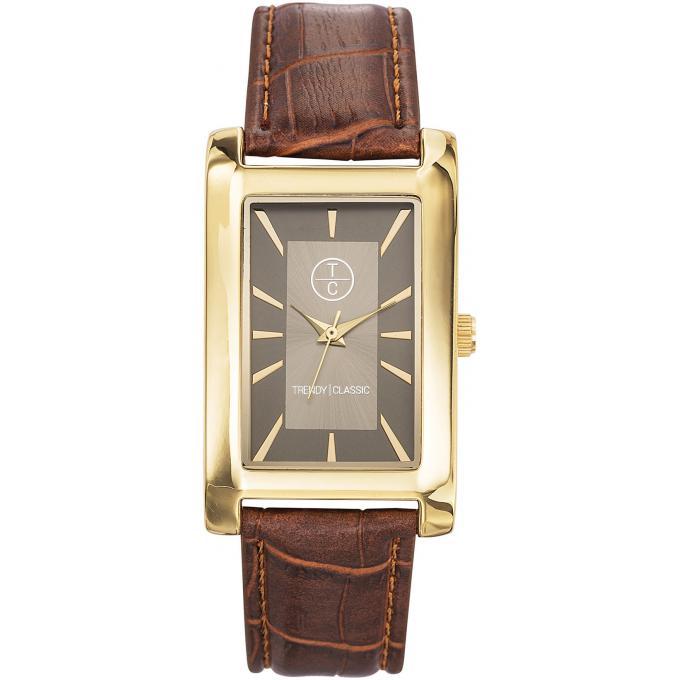 montre trendy classic cg1004 07 montre homme rectangulaire cuir marron sur bijourama montre. Black Bedroom Furniture Sets. Home Design Ideas