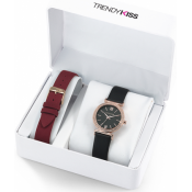 Trendy Kiss - Montre Trendy Kiss CTK-12 - Montre Noire Femme