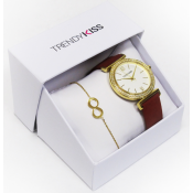 Trendy Kiss - Coffret Montre Trendy Kiss CTK-27 - Montre Femme Cuir