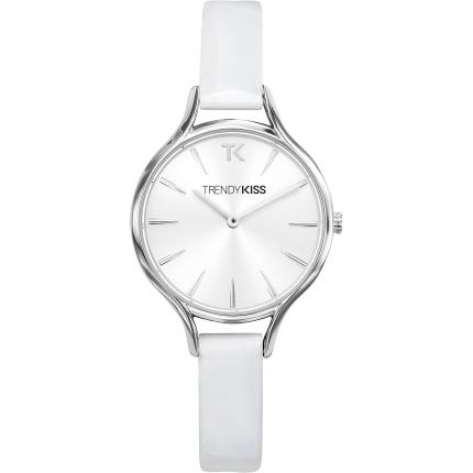 Montre Trendy Kiss TC10093-03 - Montre Cuir Blanc Femme