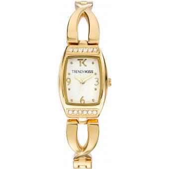 Montre Trendy Kiss TMG10033-01 - Montre Femme Rectangulaire Acier Or