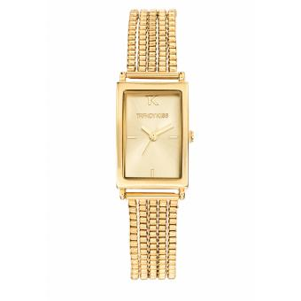 Montre Trendy Kiss TMG10058-07 - Montre Femme Rectangulaire Acier Or
