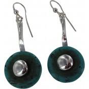 Boucles d'oreilles Pendantes Turquoise Craquelées - Ubu