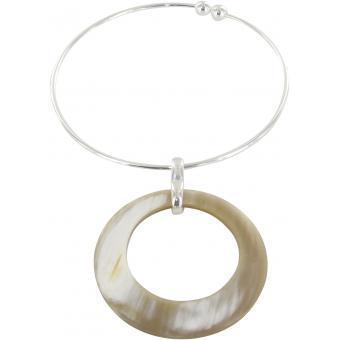 Collier et pendentif Métal Pendentif Beige - UBU - Ubu
