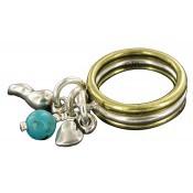 Bagues Fantaisie Breloques Boule Turquoise - Ubu