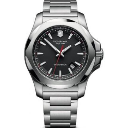 Montre Victorinox I,N,O,X, 241723,1 - Montre Noire Inoxydable Homme