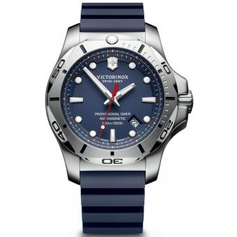 Montre Victorinox I.N.O.X 241734 - Montre Silicone Bleue Homme