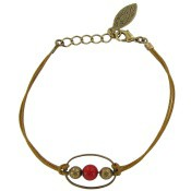 Bracelet Cordon Ipanema Corail - Virginie Monroe