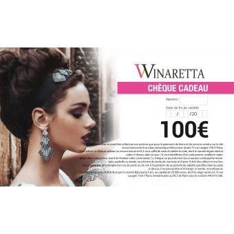 Chèque Cadeau 100€ Winaretta - Winaretta