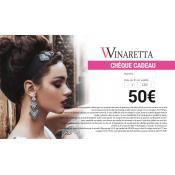 Winaretta - Chèque Cadeau 50€ Winaretta