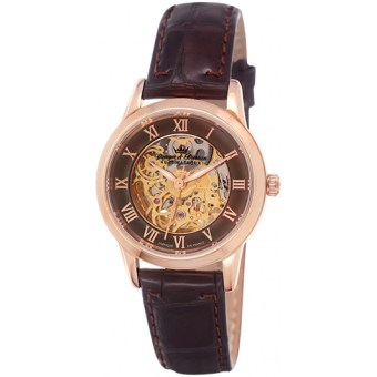 Montre Yonger & Bresson Saumur YBD 8525-05 - Montre Marron Automatique Femme