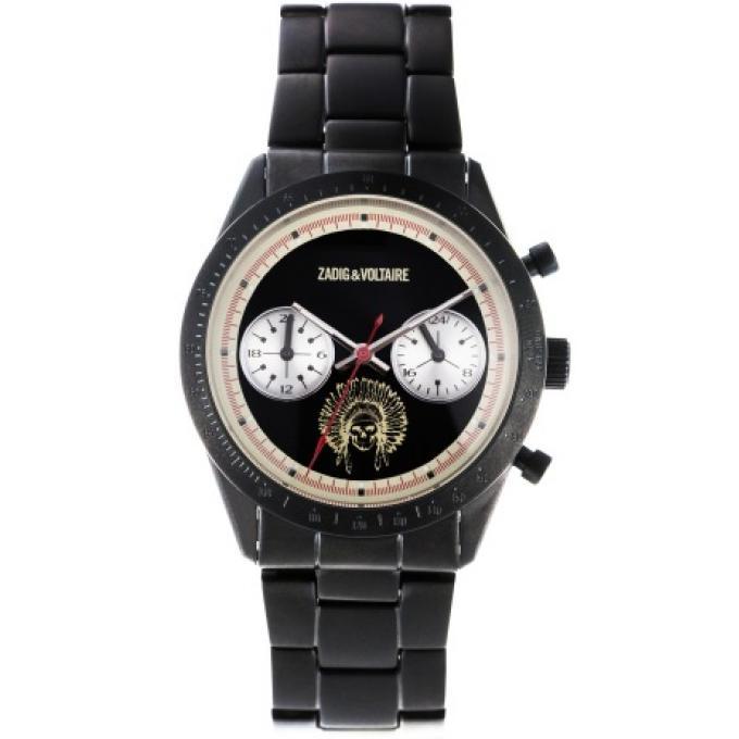 montre zadig voltaire zvm122 montre acier noir chronographe dateur femme sur bijourama. Black Bedroom Furniture Sets. Home Design Ideas