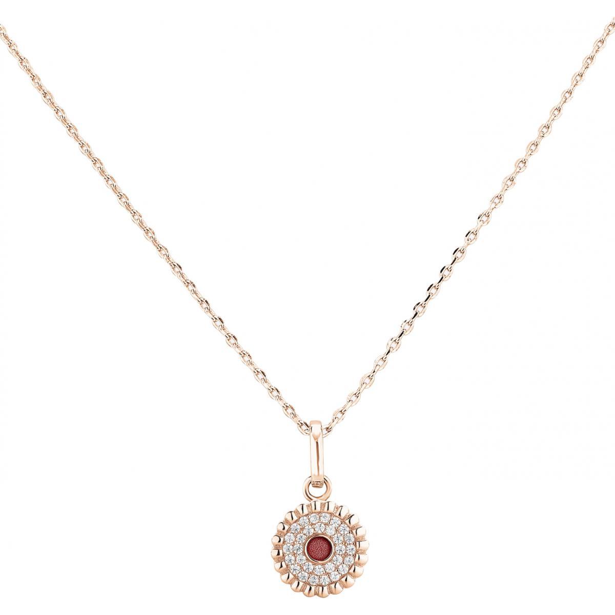 Mariage élégant Perle Cristal Collier Pendentif Pour Femmes Bijoux Rose Couleur Or