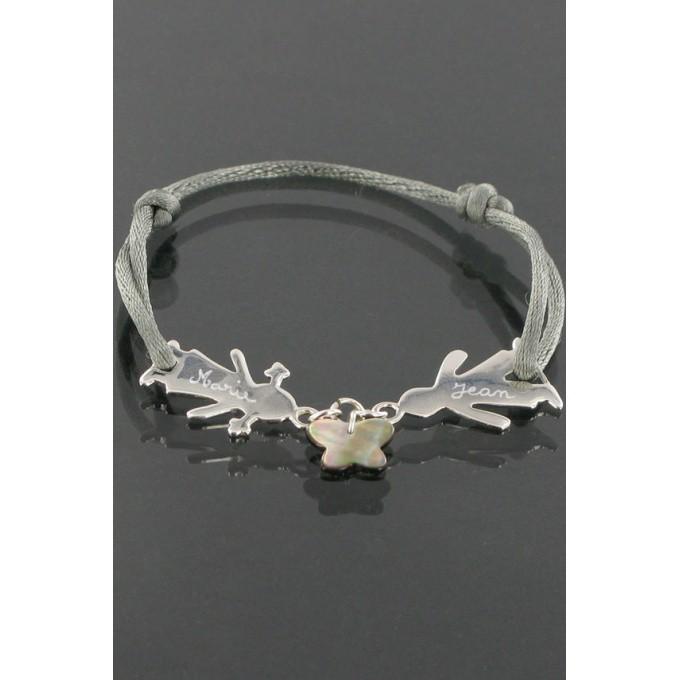 bracelet cordon mes enfants papillon bijoux les bijoux de pauline et victoria winaretta. Black Bedroom Furniture Sets. Home Design Ideas