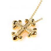 Collier Croix en Or Jaune - Corpus Christi