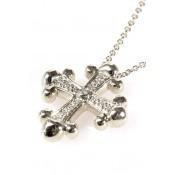 Collier Croix en Or Blanc - Corpus Christi