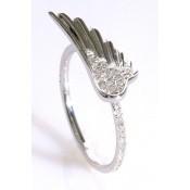 Bague Aile d'ange Or blanc et diamants - Corpus Christi